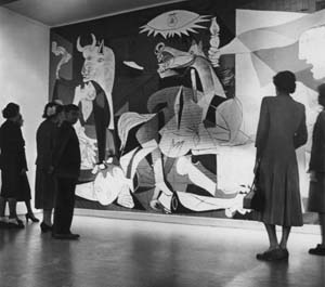 Guernica in 40's on exhibit at museum(unidentified)